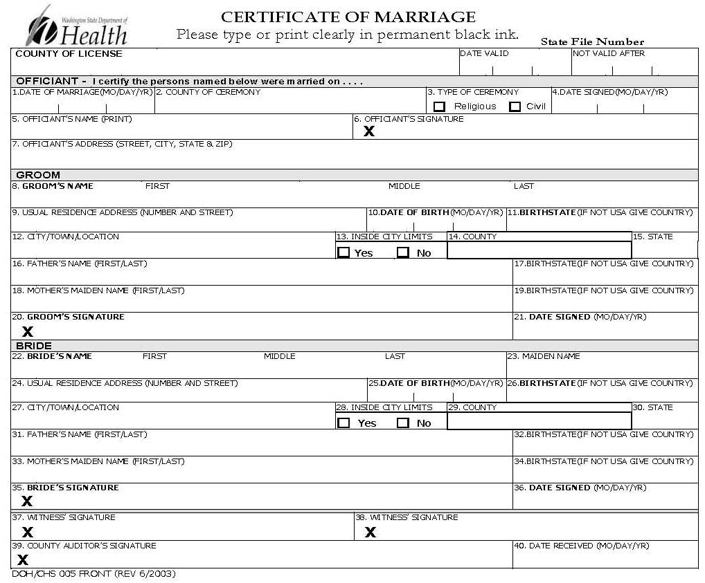 Marriage what christians should know certificate of marriage washington state department of health click to view full size biocorpaavc Gallery